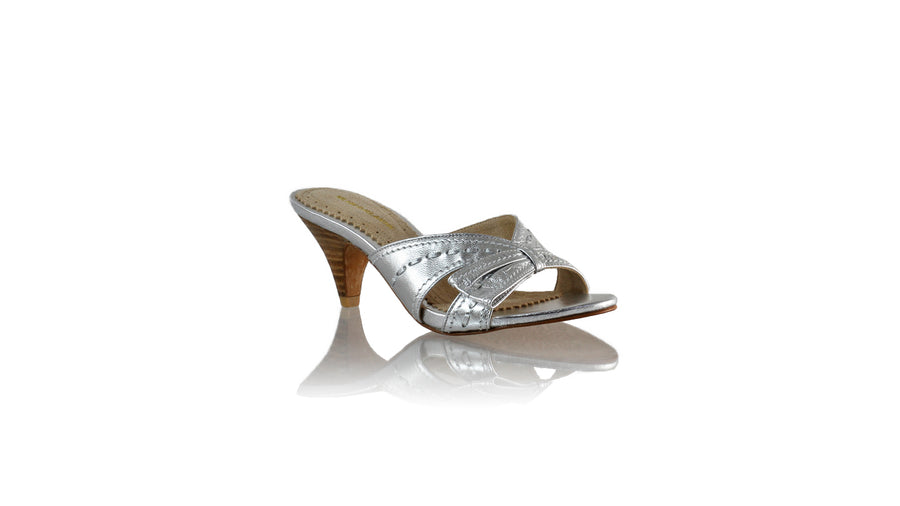 Leather-shoes-Sri 70mm SH - Silver-sandals midheel-NILUH DJELANTIK-NILUH DJELANTIK