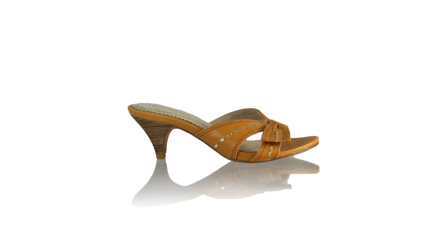 Leather-shoes-Sri 70mm SH - Tan & Gold-sandals midheel-NILUH DJELANTIK-NILUH DJELANTIK