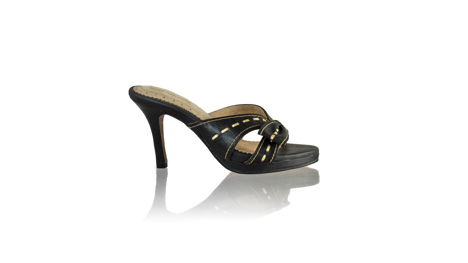 Leather-shoes-Sri 90mm SH PF - Black & Gold-sandals higheel-NILUH DJELANTIK-NILUH DJELANTIK