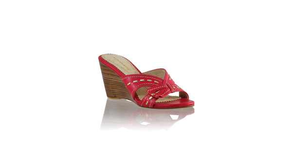 Leather-shoes-Sri 80mm Wedge - Fuschia & Gold-sandals wedges-NILUH DJELANTIK-NILUH DJELANTIK