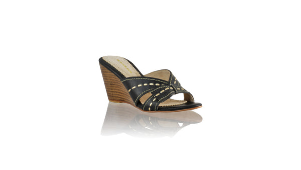 Leather-shoes-Sri 80mm Wedge - Black & Gold-sandals wedges-NILUH DJELANTIK-NILUH DJELANTIK
