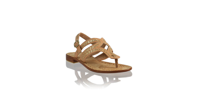 Leather-shoes-Emma 20mm Flat - Nude & Gold-sandals flat-NILUH DJELANTIK-NILUH DJELANTIK