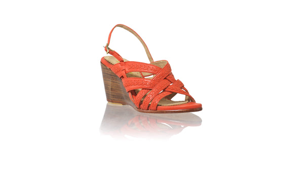 Leather-shoes-Ellok 80mm Wedges - Orange-sandals wedges-NILUH DJELANTIK-NILUH DJELANTIK