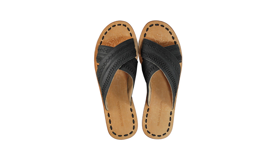 Leather-shoes-Paramita 20mm Flat - All Black-sandals flat-NILUH DJELANTIK-NILUH DJELANTIK