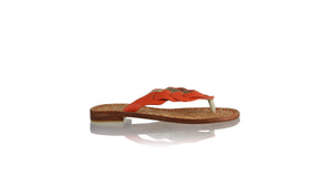 Leather-shoes-Jhonny Thong 20mm - Orange BKK-sandals flat-NILUH DJELANTIK-NILUH DJELANTIK