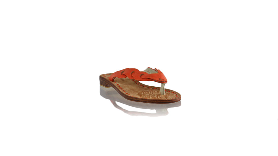 Leather-shoes-Jhonny Thong 20mm Flat - Orange BKK-sandals flat-NILUH DJELANTIK-NILUH DJELANTIK