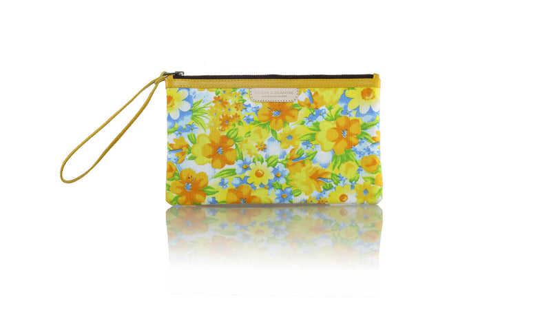 Leather-shoes-Clutch 14x23 - Blue & Yellow Flower Canvas-Zipper Clutch-NILUH DJELANTIK-NILUH DJELANTIK