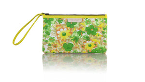 Leather-shoes-Clutch 14x23 - Yellow & Green Flower Canvas-Zipper Clutch-NILUH DJELANTIK-NILUH DJELANTIK