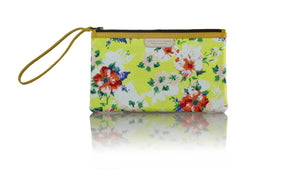 Leather-shoes-Clutch 14x23 - Yellow Flower Twill Cotton-Zipper Clutch-NILUH DJELANTIK-NILUH DJELANTIK