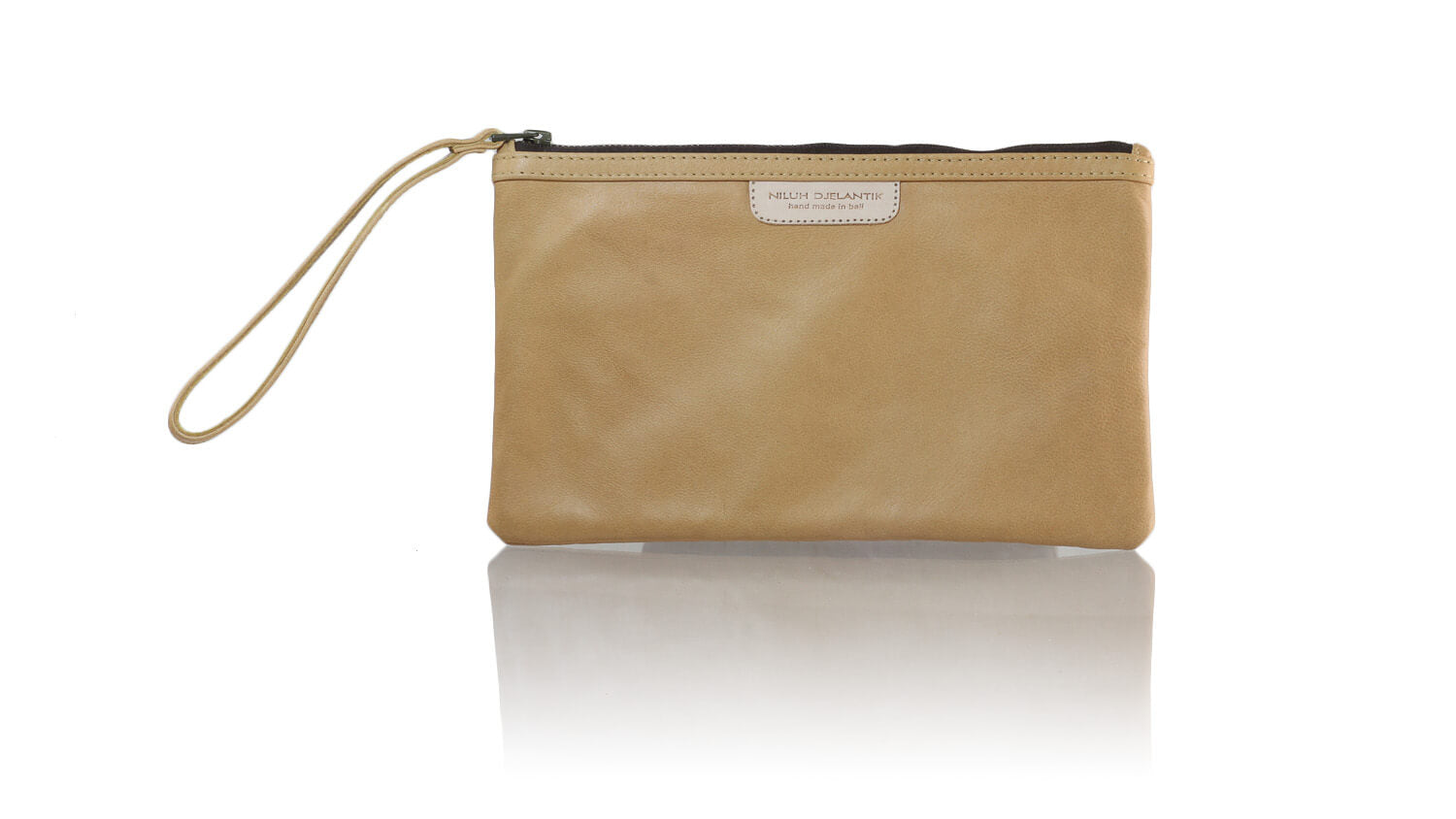 Leather-shoes-Clutch 14x23 - Nude-Zipper Clutch-NILUH DJELANTIK-NILUH DJELANTIK
