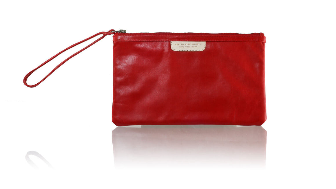 Leather-shoes-Clutch 14x23 - Red-Zipper Clutch-NILUH DJELANTIK-NILUH DJELANTIK