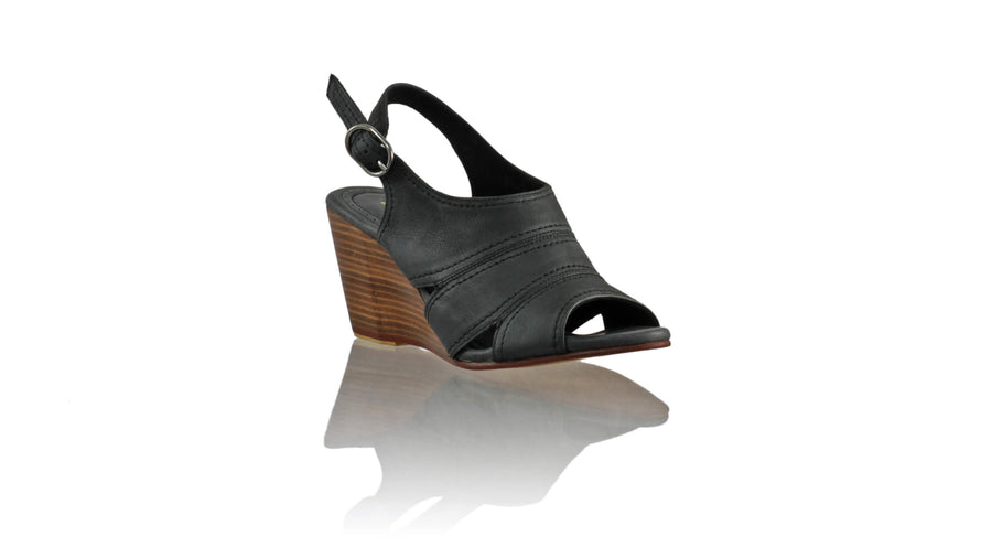 Leather-shoes-Anastasia 80mm Wedge - Black-sandals wedges-NILUH DJELANTIK-NILUH DJELANTIK
