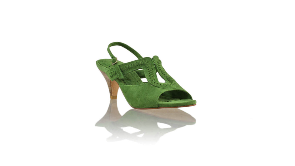 Leather-shoes-Bulan PF 70mm SH - Green Suede-sandals midheel-NILUH DJELANTIK-NILUH DJELANTIK