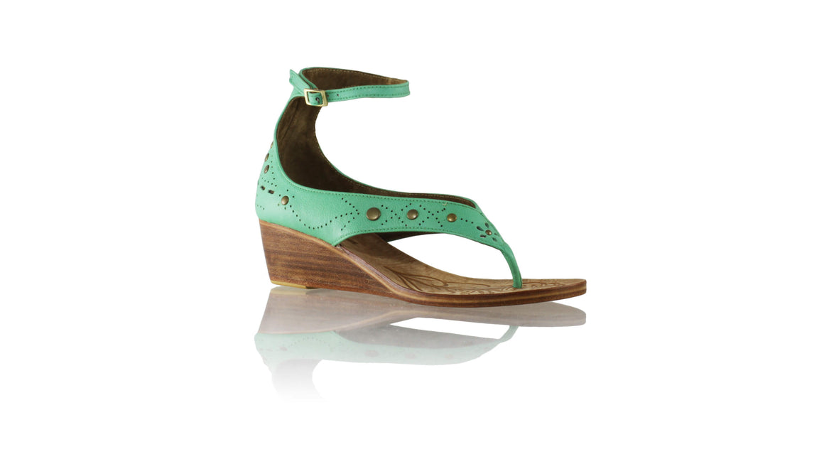 Leather-shoes-Miranda 35mm Wedges - Aqua-sandals wedges-NILUH DJELANTIK-NILUH DJELANTIK