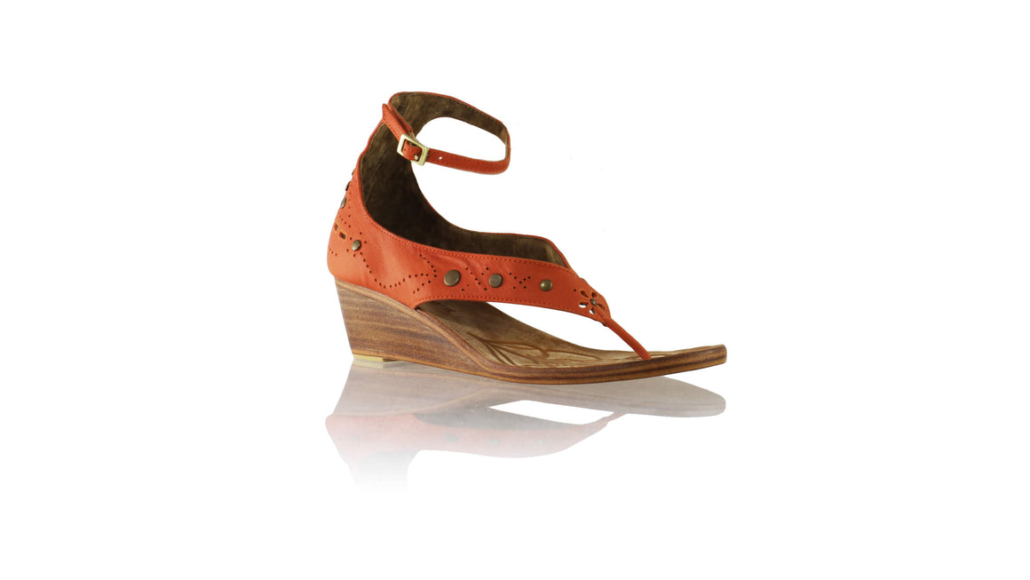 Leather-shoes-Miranda 35mm Wedges - Orange-sandals wedges-NILUH DJELANTIK-NILUH DJELANTIK