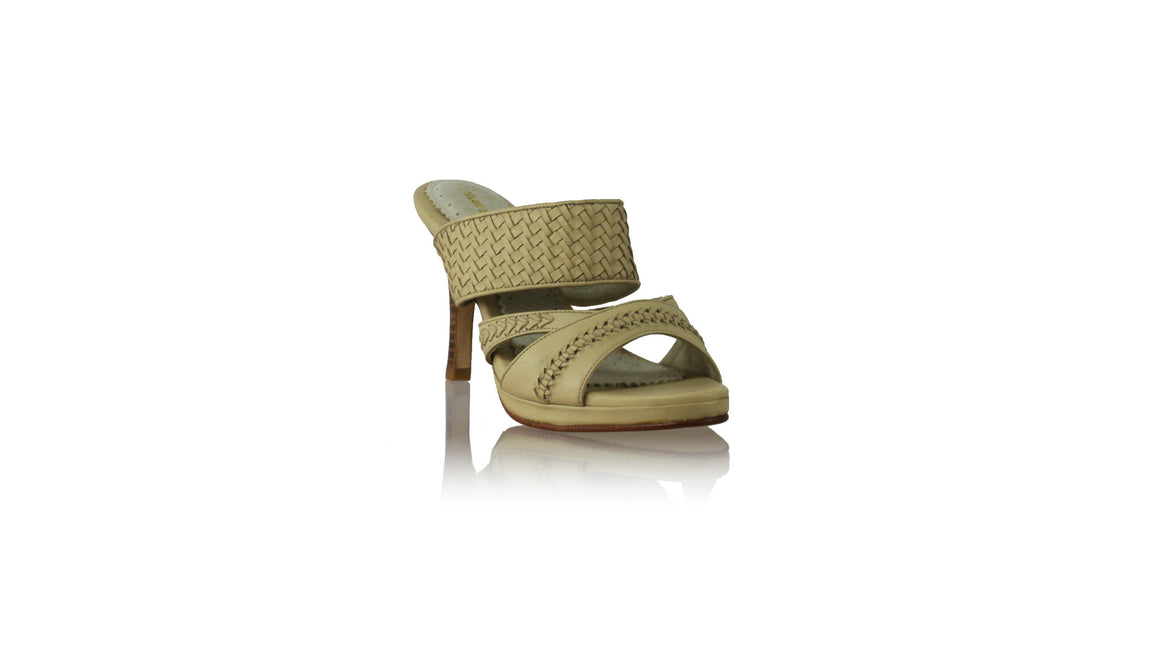 Leather-shoes-Happy PF Woven Enrique Without Strap 90mm SH - Beige-sandals higheel-NILUH DJELANTIK-NILUH DJELANTIK