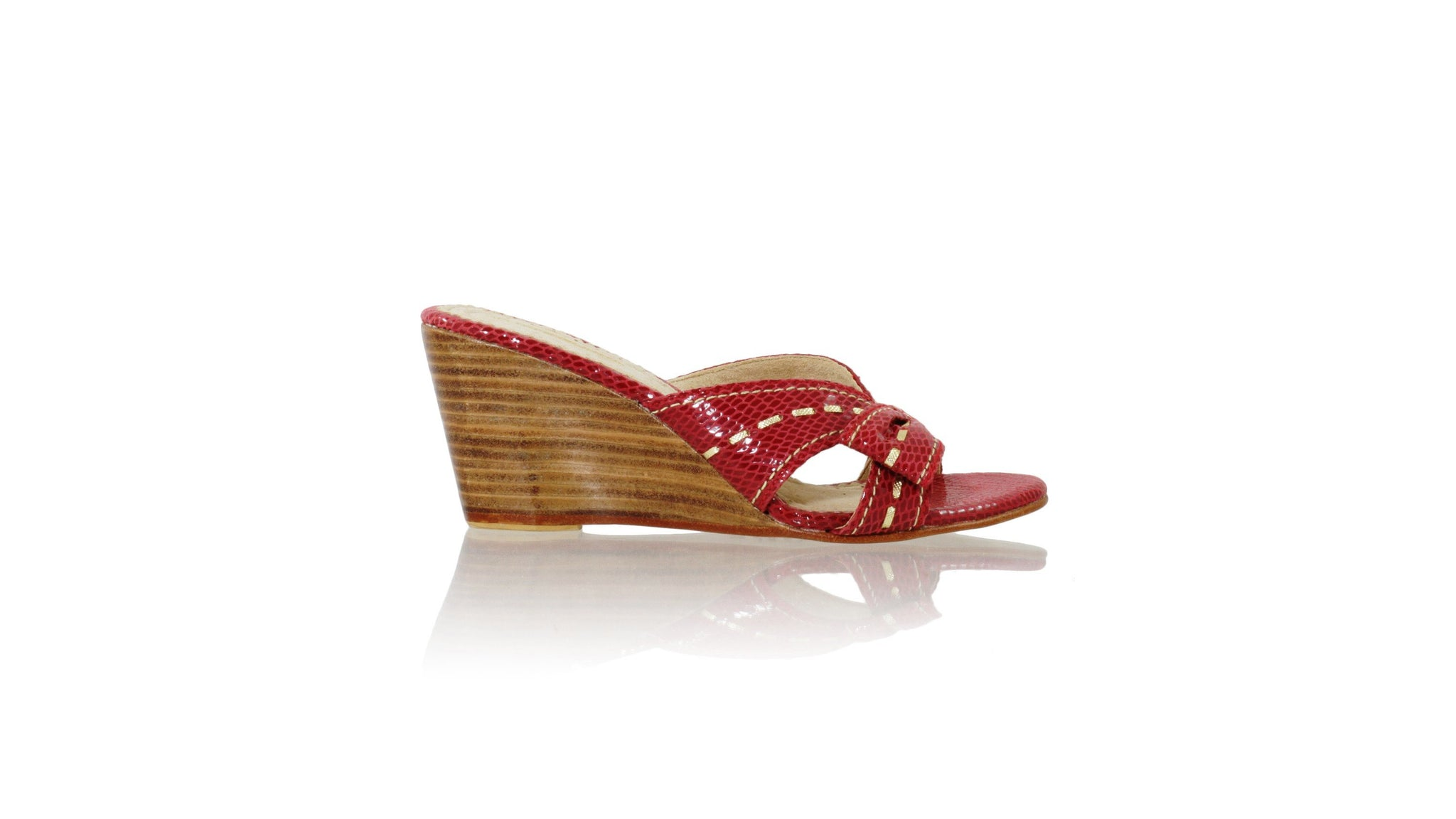5482d5bf804ba Leather-shoes-Sri wedges 80mm - Red Snake Print   Gold-sandals wedges