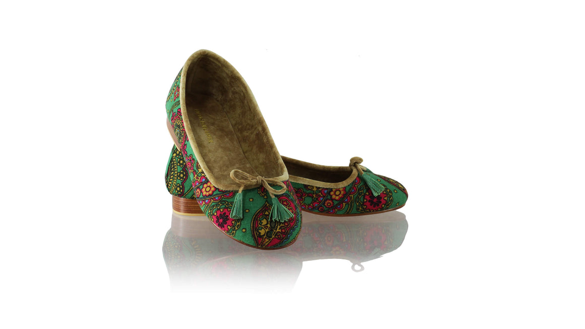 Leather-shoes-Sasha 20mm Ballet - Green Lotus-flats ballet-NILUH DJELANTIK-NILUH DJELANTIK