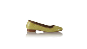 Leather-shoes-Kate 20mm Ballet - Yellow Snake Print-Shoes-NILUH DJELANTIK-NILUH DJELANTIK