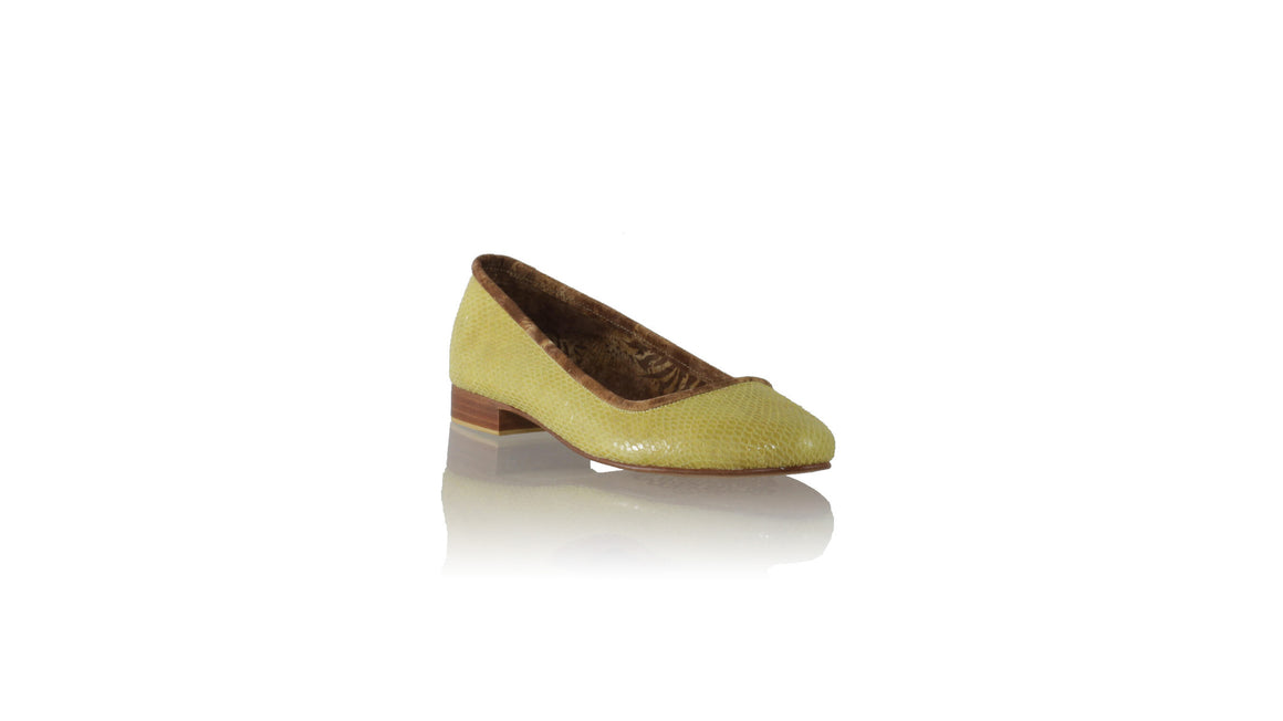 Leather-shoes-Kate 20 mm Ballet Yellow Snake Print-Shoes-NILUH DJELANTIK-NILUH DJELANTIK