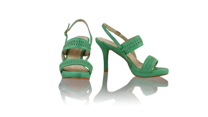 Leather-shoes-Sahara 90MM SH-01 PF - Aqua-sandals higheel-NILUH DJELANTIK-NILUH DJELANTIK