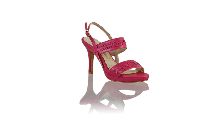Leather-shoes-Sahara 90MM SH-01 PF - Fuschia-sandals higheel-NILUH DJELANTIK-NILUH DJELANTIK