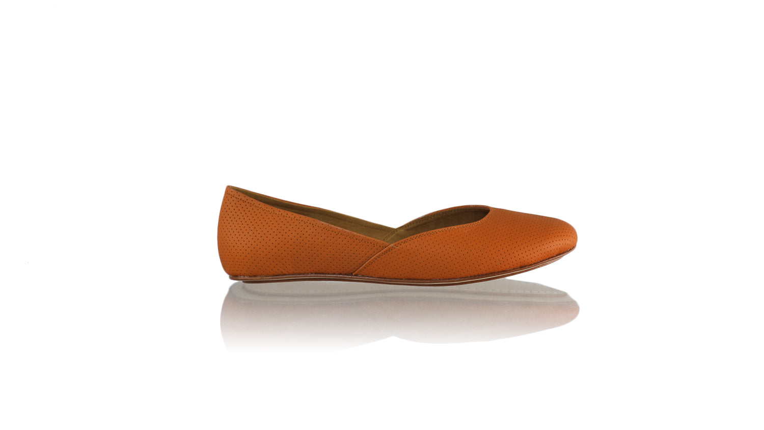 Leather-shoes-Punjab 5mm Ballet - Orange Net-sandals flat-NILUH DJELANTIK-NILUH DJELANTIK