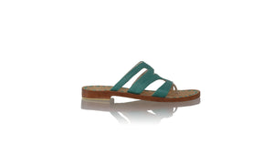 leather shoes Suri 20mm Flats - Emerald, sandals flat , NILUH DJELANTIK - 1