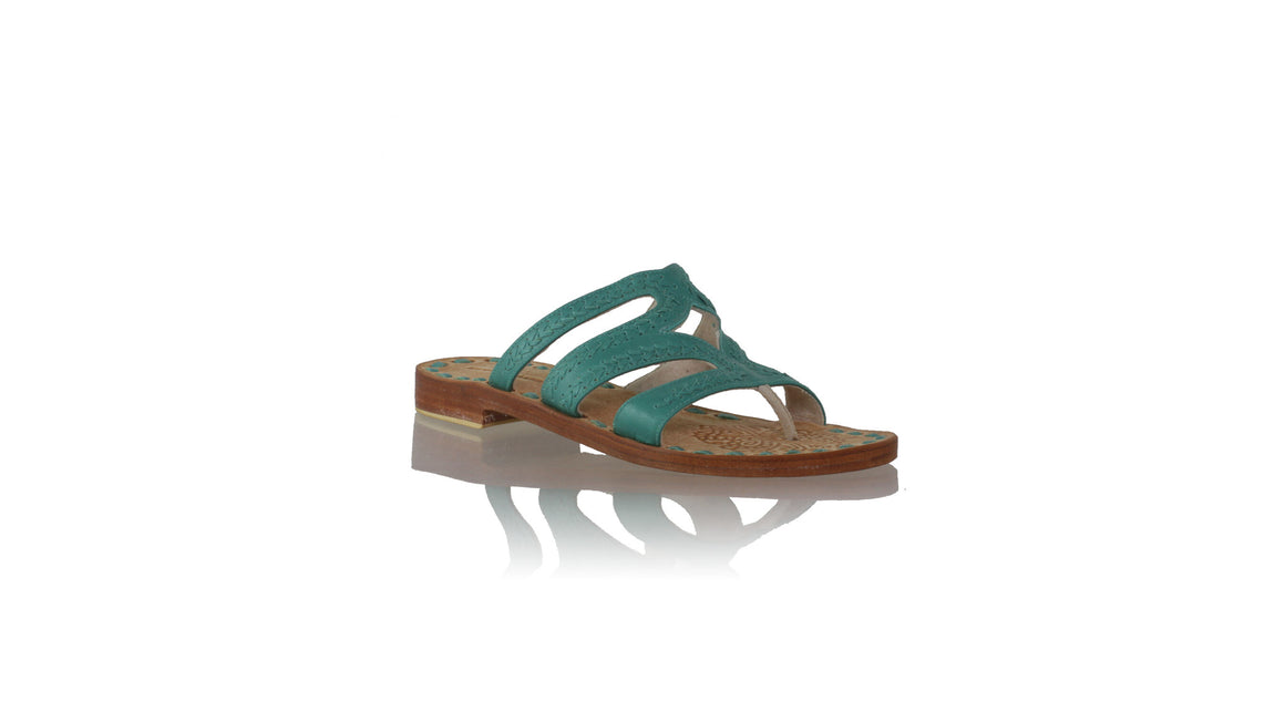 Leather-shoes-Suri 20mm Flats - Emerald-sandals flat-NILUH DJELANTIK-NILUH DJELANTIK
