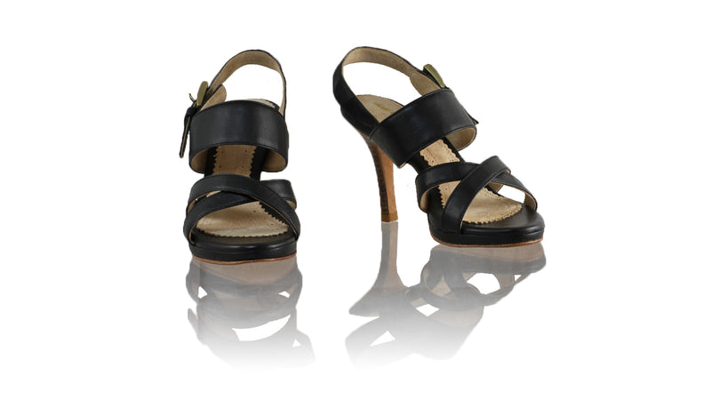 Leather-shoes-Tabitha 90mm SH PF - Black-sandals higheel-NILUH DJELANTIK-NILUH DJELANTIK