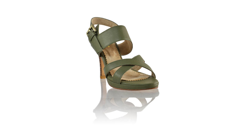 Leather-shoes-Tabitha 90mm SH PF - Olive-sandals higheel-NILUH DJELANTIK-NILUH DJELANTIK