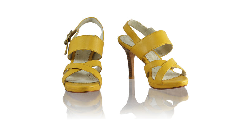 Leather-shoes-Tabitha 90mm SH PF - Yellow-sandals higheel-NILUH DJELANTIK-NILUH DJELANTIK