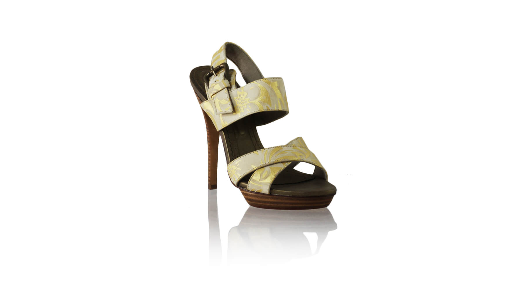 Leather-shoes-Tabitha 138mm SH PF - Bronze Cream & Gold Batik Print-sandals higheel-NILUH DJELANTIK-NILUH DJELANTIK