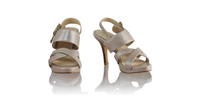 Leather-shoes-Tabitha 90mm SH PF - Cream Metallic-sandals higheel-NILUH DJELANTIK-NILUH DJELANTIK