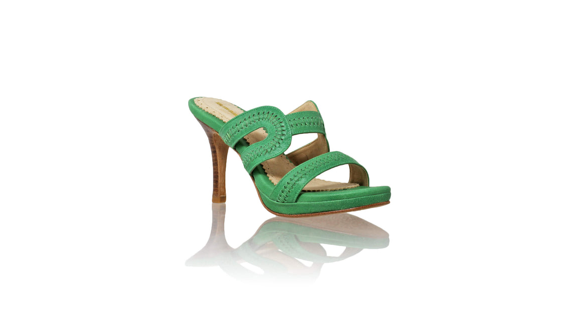 Leather-shoes-Tamie PF 90mm SH - Green-sandals higheel-NILUH DJELANTIK-NILUH DJELANTIK