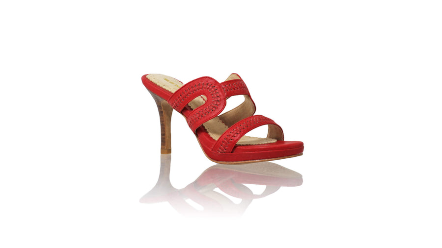 Leather-shoes-Tamie 90MM SH PF - Red-sandals higheel-NILUH DJELANTIK-NILUH DJELANTIK