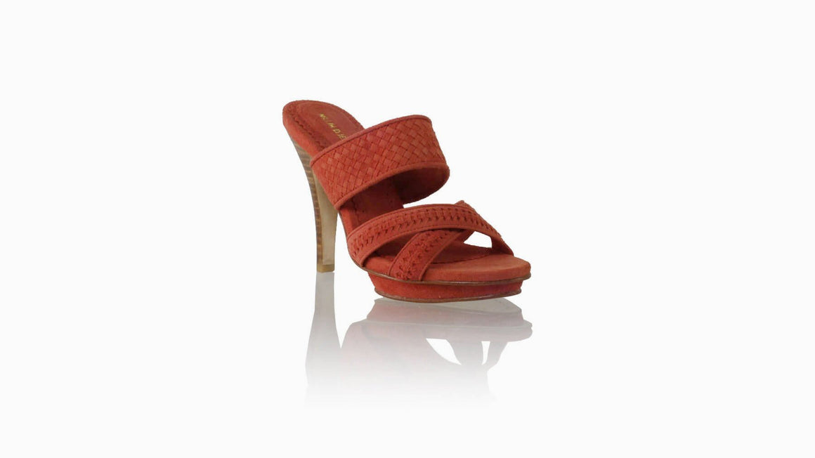 Leather-shoes-Thio PF 115mm SH - Coral Suede-sandals higheel-NILUH DJELANTIK-NILUH DJELANTIK