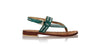 leather shoes Timika 20mm Flats - Emerald & Silver, sandals flat , NILUH DJELANTIK - 1