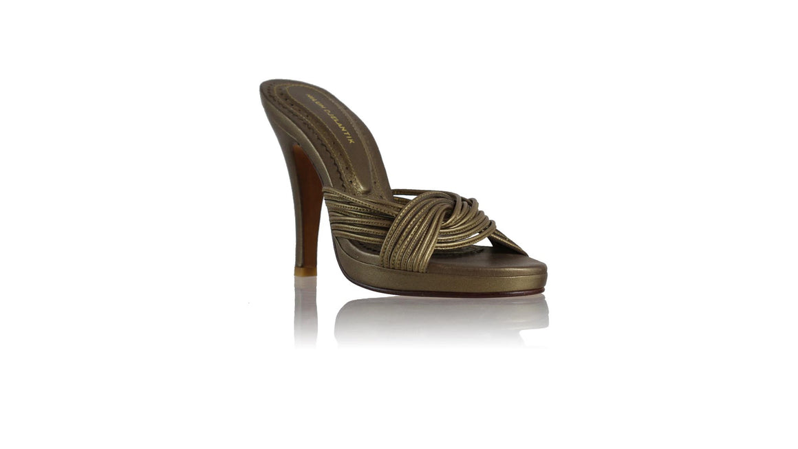 leather shoes Twist PF without Strap 115mm SH - Bronze, sandals higheel , NILUH DJELANTIK - 1