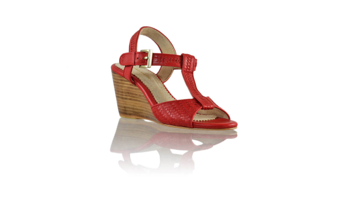 Leather-shoes-Vegas 80mm Wedges - Red-sandals higheel-NILUH DJELANTIK-NILUH DJELANTIK