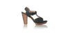 leather shoes Vegas PF 115mm WH - Black, sandals higheel , NILUH DJELANTIK - 1