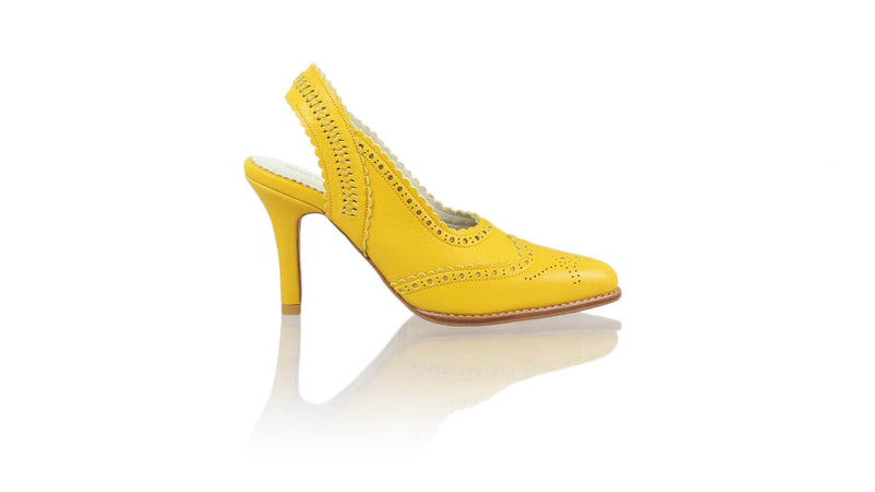 Leather-shoes-Veronika 90mm SH-01 - Yellow-pumps highheel-NILUH DJELANTIK-NILUH DJELANTIK