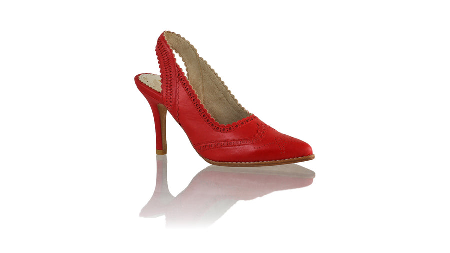 Leather-shoes-Veronika 90mm SH - Red-pumps highheel-NILUH DJELANTIK-NILUH DJELANTIK
