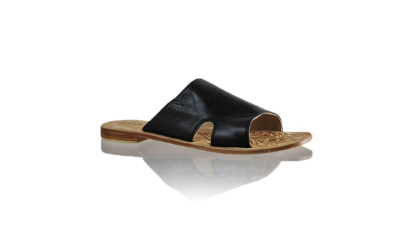 Leather-shoes-Vira 20mm Flat - Black-sandals flat-NILUH DJELANTIK-NILUH DJELANTIK