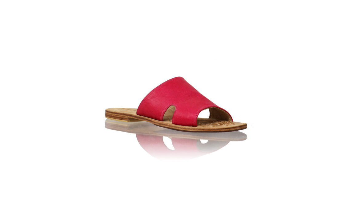 Leather-shoes-Vira 20mm Flat - Fuschia-sandals flat-NILUH DJELANTIK-NILUH DJELANTIK