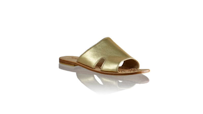 Leather-shoes-Vira 20mm Flat - Gold-sandals flat-NILUH DJELANTIK-NILUH DJELANTIK