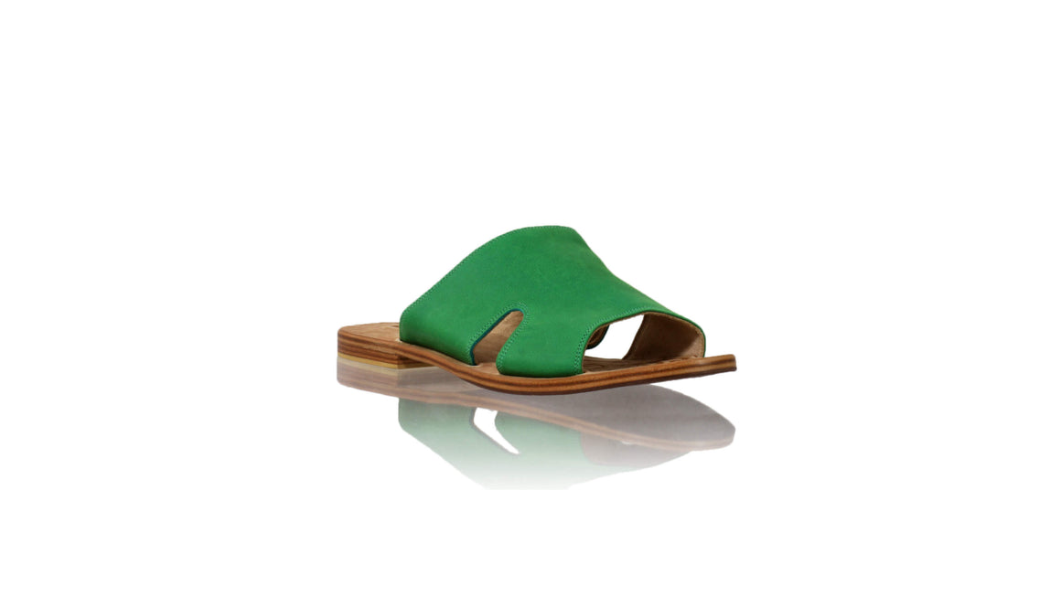 Leather-shoes-Vira 20mm Flat - Green-sandals flat-NILUH DJELANTIK-NILUH DJELANTIK