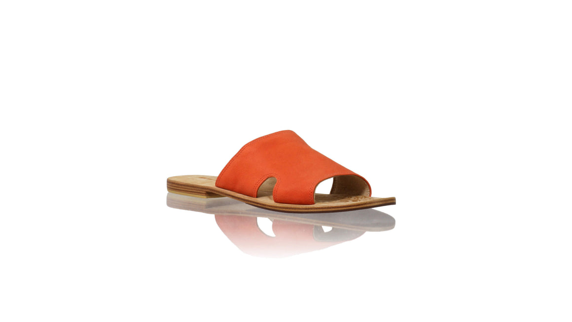 Leather-shoes-Vira 20mm Flat - Orange-sandals flat-NILUH DJELANTIK-NILUH DJELANTIK