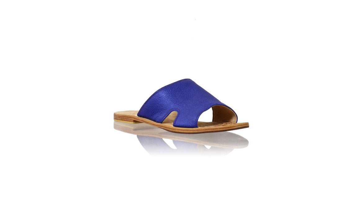 Leather-shoes-Vira 20mm Flat - Royal Blue-sandals flat-NILUH DJELANTIK-NILUH DJELANTIK