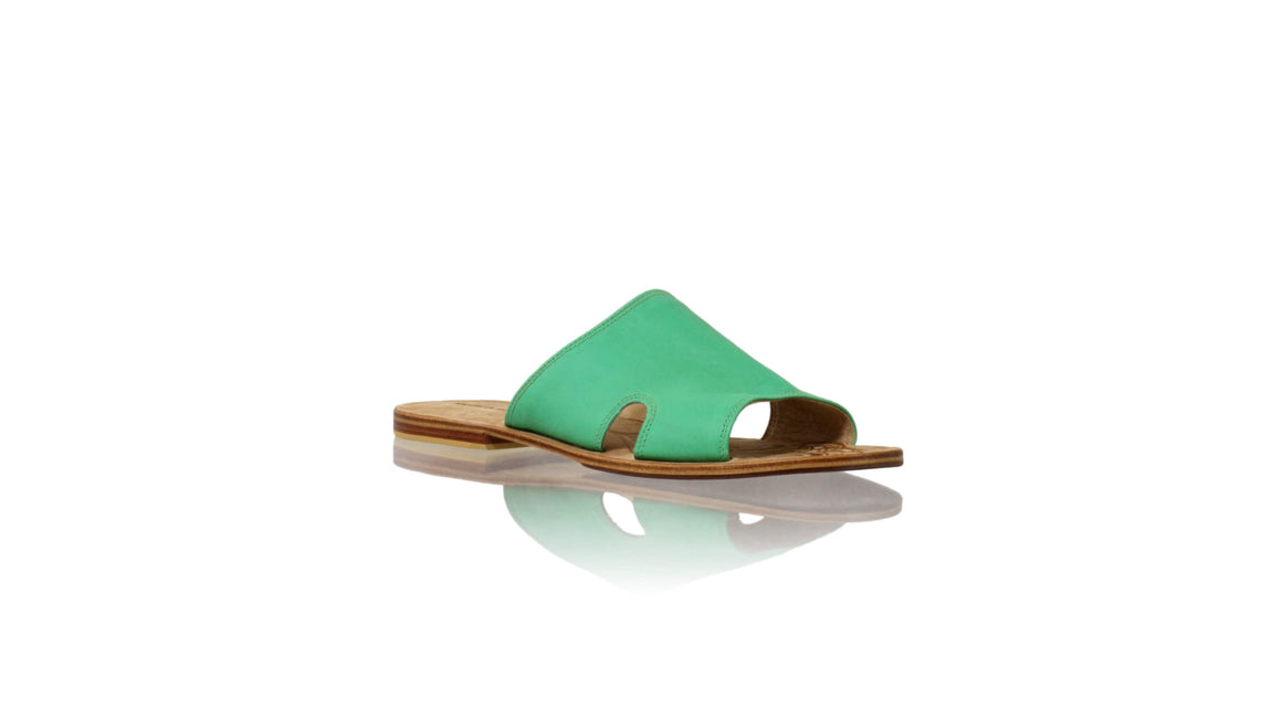 Leather-shoes-Vira 20mm Flat - Turquoise-sandals flat-NILUH DJELANTIK-NILUH DJELANTIK